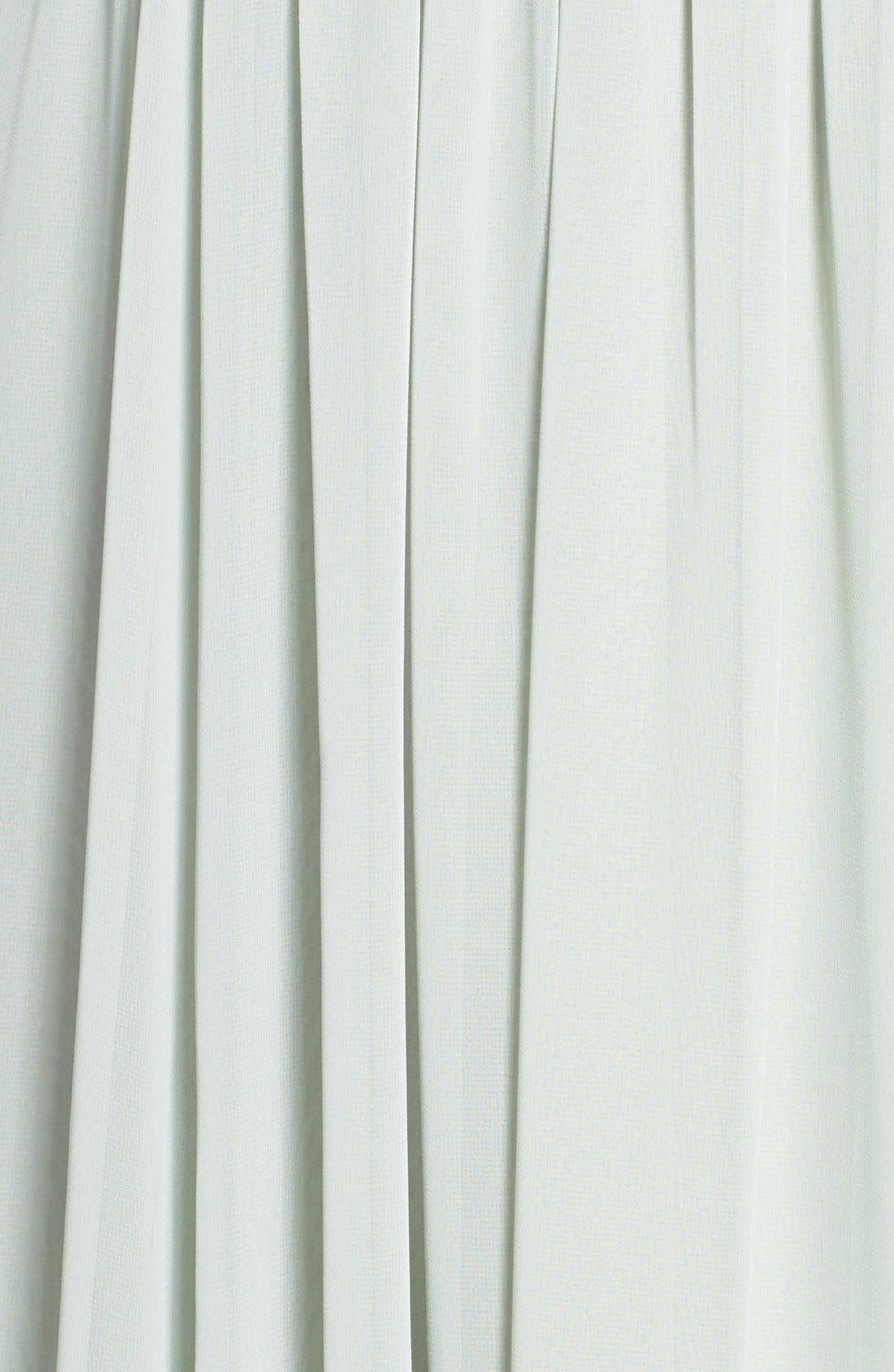 Vivienne Pleated Chiffon Gown,                             Alternate thumbnail 5, color,                             Morning Mist