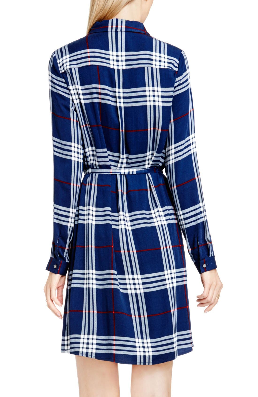 Alternate Image 2  - Two by Vince Camuto Plaid Shirtdress