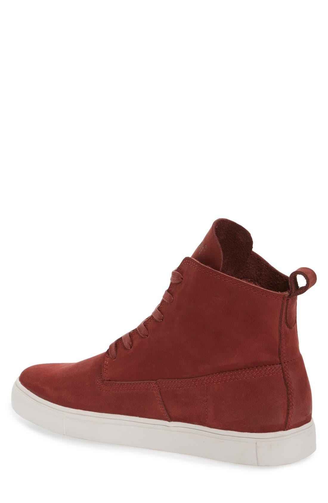 'MM33' High Top Sneaker,                             Alternate thumbnail 2, color,                             Port