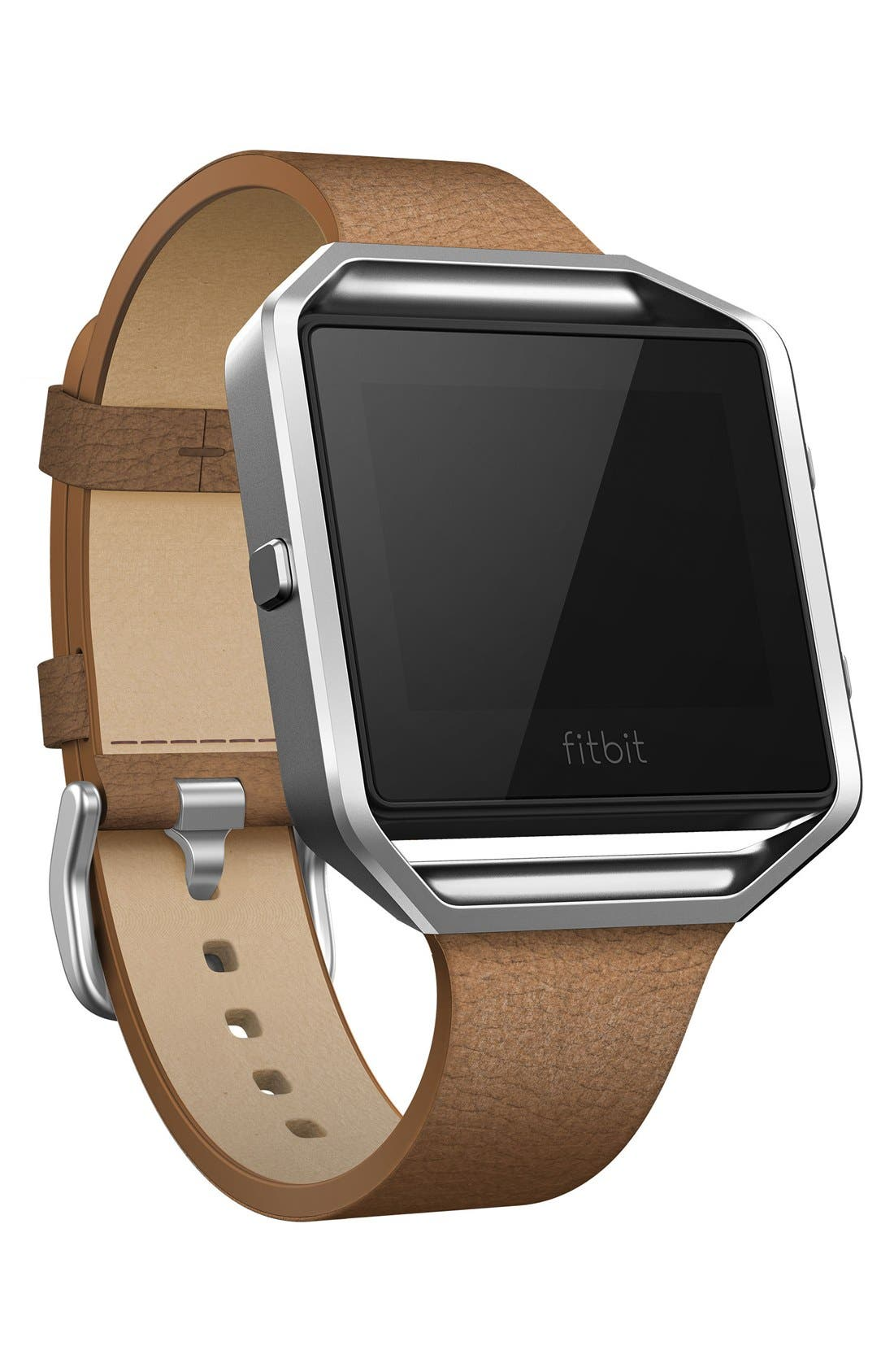 'Blaze' Slim Leather Accessory Band & Frame,                             Alternate thumbnail 2, color,                             Camel