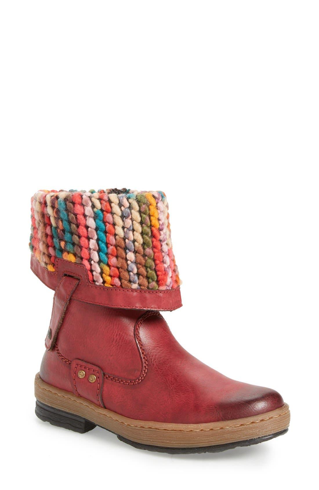 Main Image - Rieker Antistress 'Felicitas 98' Foldover Boot (Women)