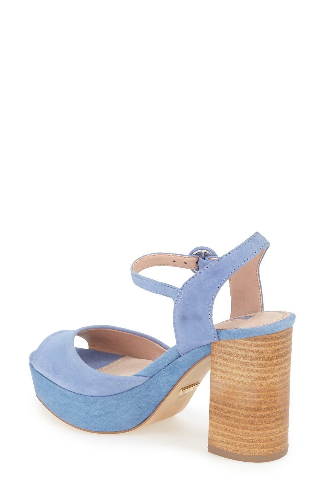 'Lana' Chunky Platform Sandal,                             Alternate thumbnail 2, color,                             Blue