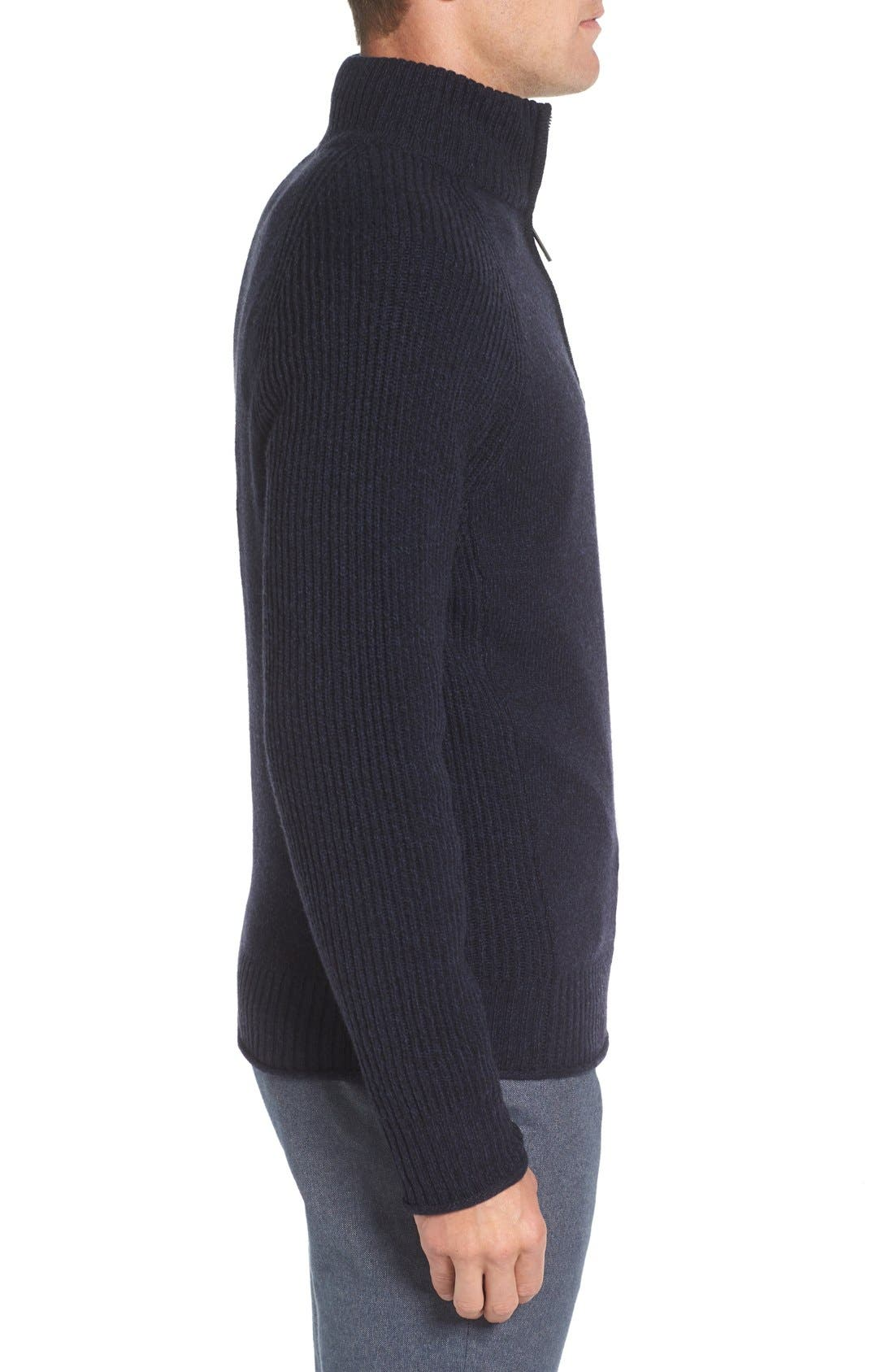 Stredwick Lambswool Sweater,                             Alternate thumbnail 3, color,                             Midnight