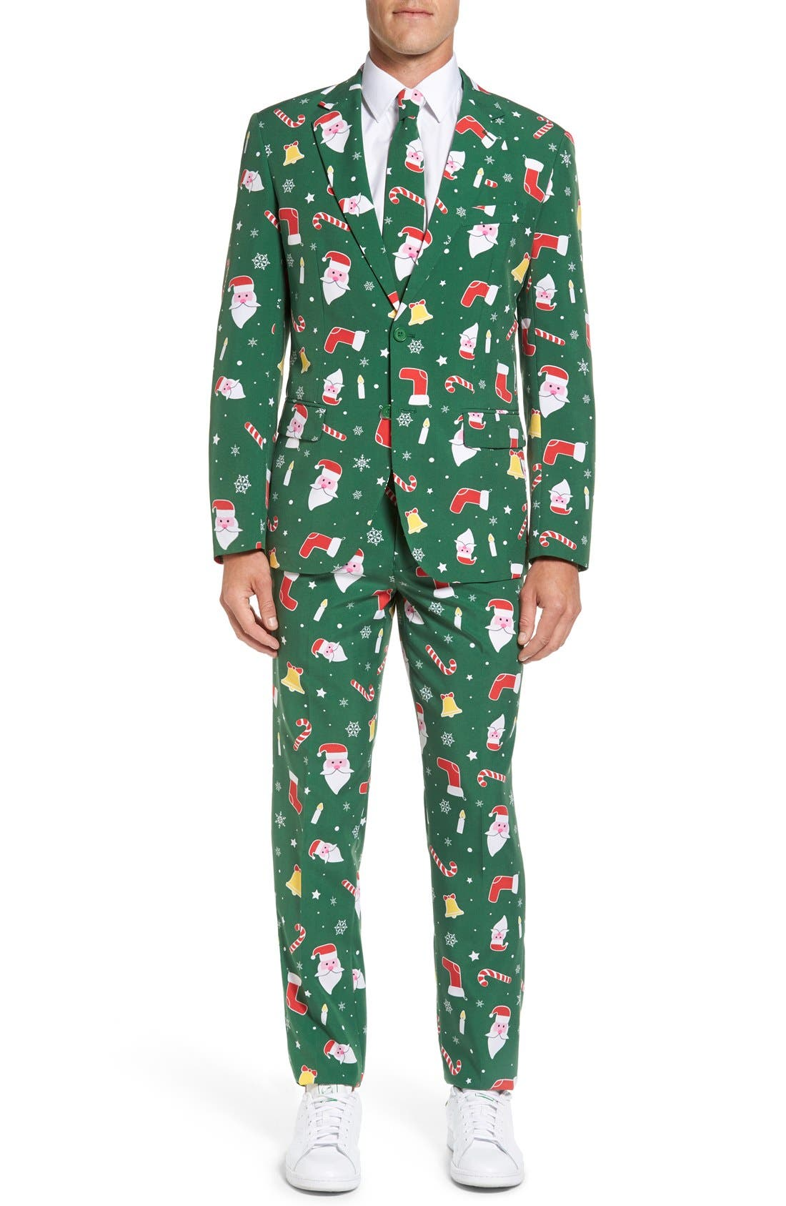 Alternate Image 1 Selected - OppoSuits 'Santaboss' Trim Fit Two-Piece Suit with Tie