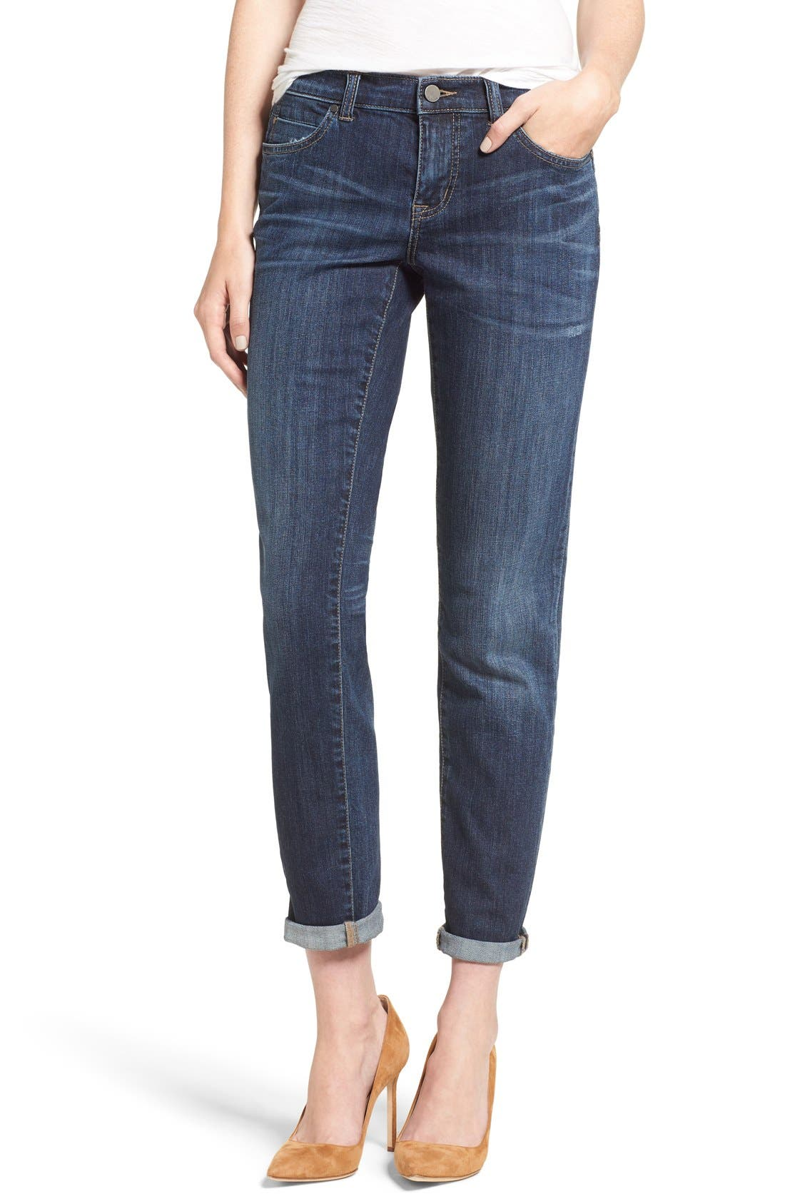Boyfriend Jeans,                             Main thumbnail 1, color,                             Mirage Wash