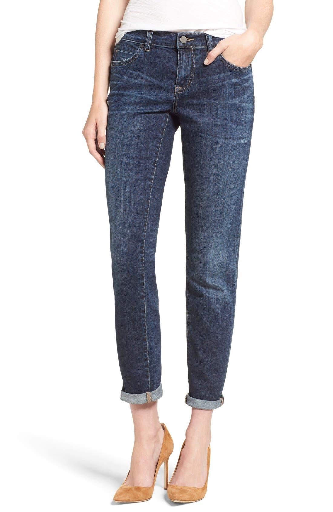 Caslon® Boyfriend Jeans (Mirage) (Regular & Petite)