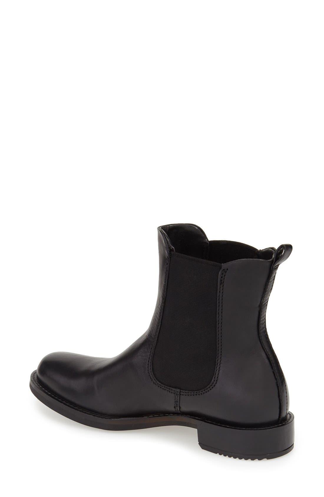 'Shape 25' Chelsea Boot,                             Alternate thumbnail 2, color,                             Black Leather