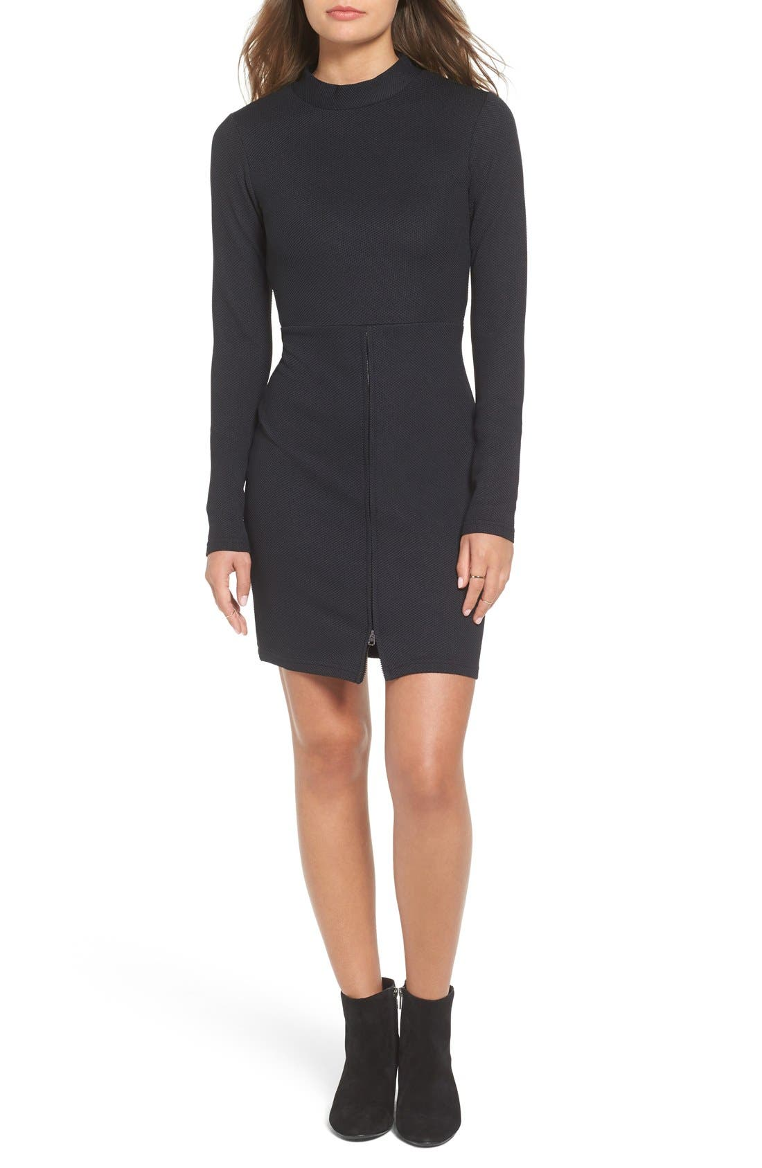 Alternate Image 1 Selected - Cheap Monday 'Shoot' Zip Detail Body-Con Dress