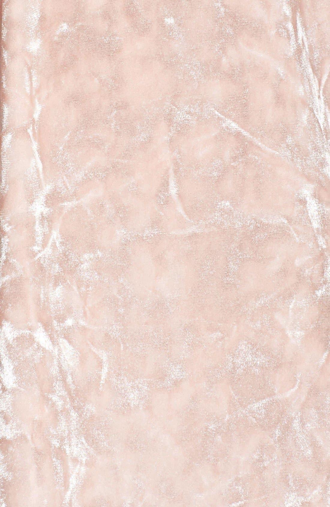 Alternate Image 5  - Chelsea28 Crushed Velvet Chemise