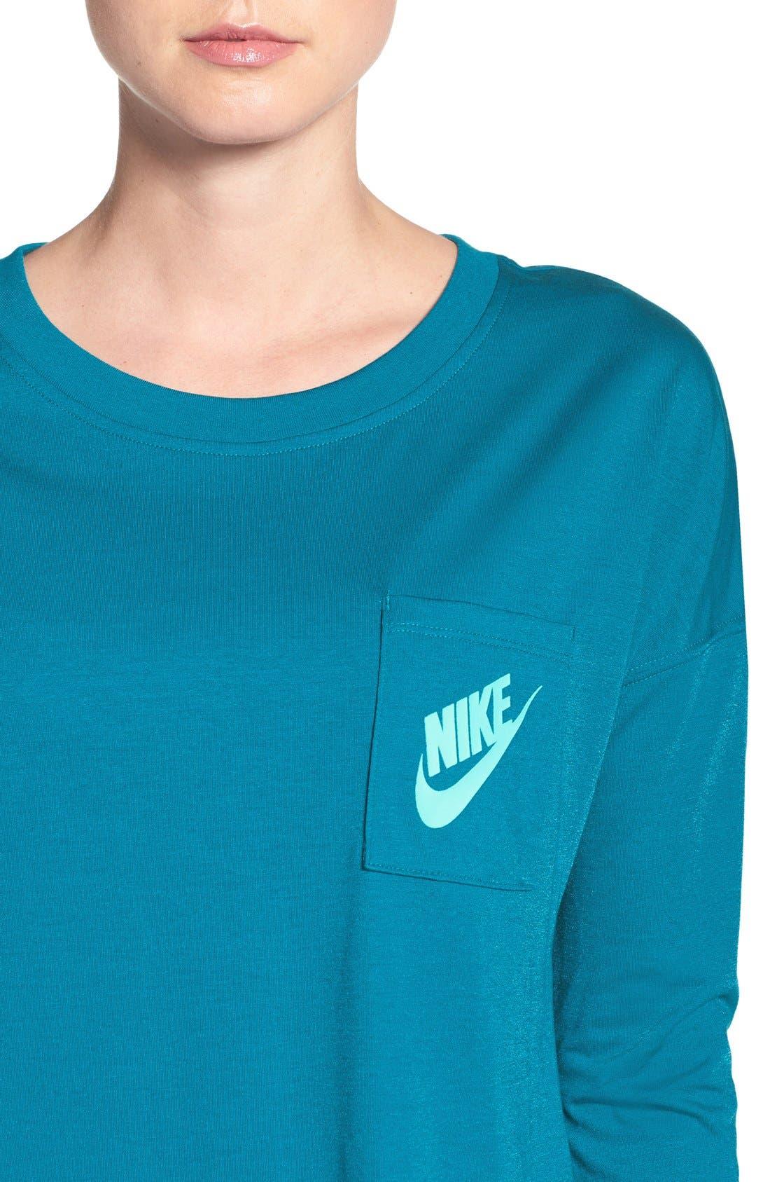 Alternate Image 4  - Nike 'Signal' Long Sleeve Tee