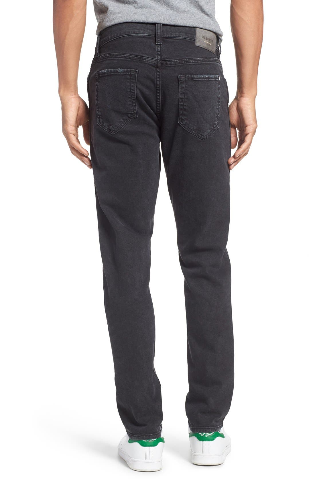 'Henley' Slim Fit Jeans,                             Alternate thumbnail 2, color,                             Smoke