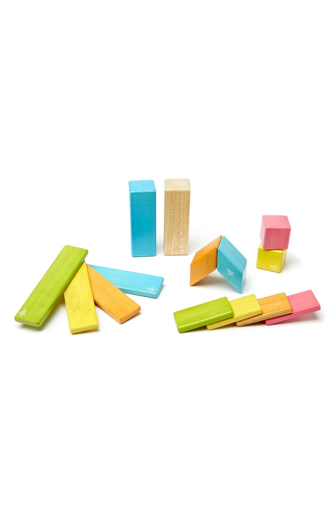 Alternate Image 2  - Tegu 'Classics - Blues' Magnetic Wooden Blocks Play Set