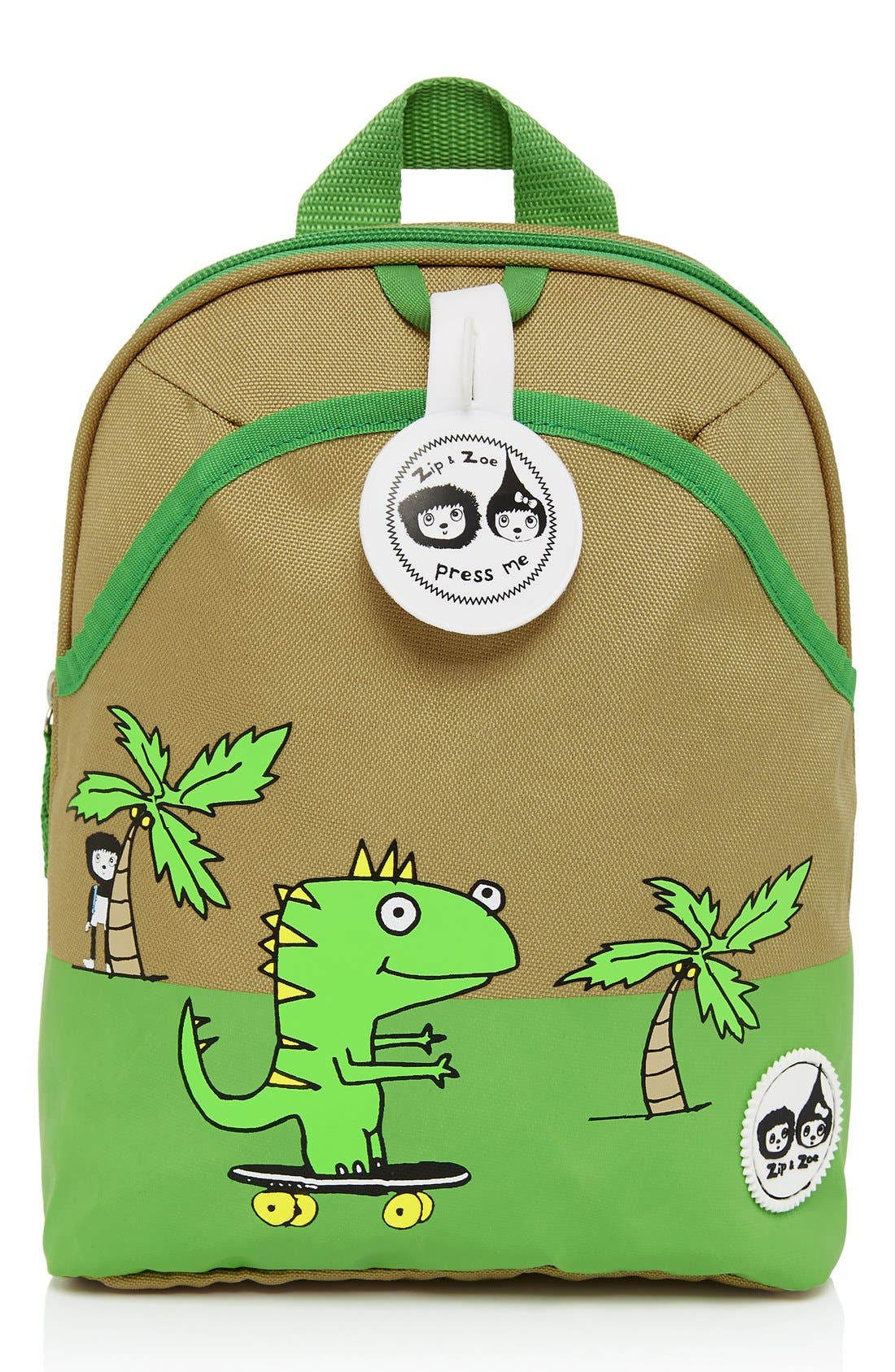 Graphic Mini Backpack,                             Main thumbnail 1, color,                             Dylan Dino Palm