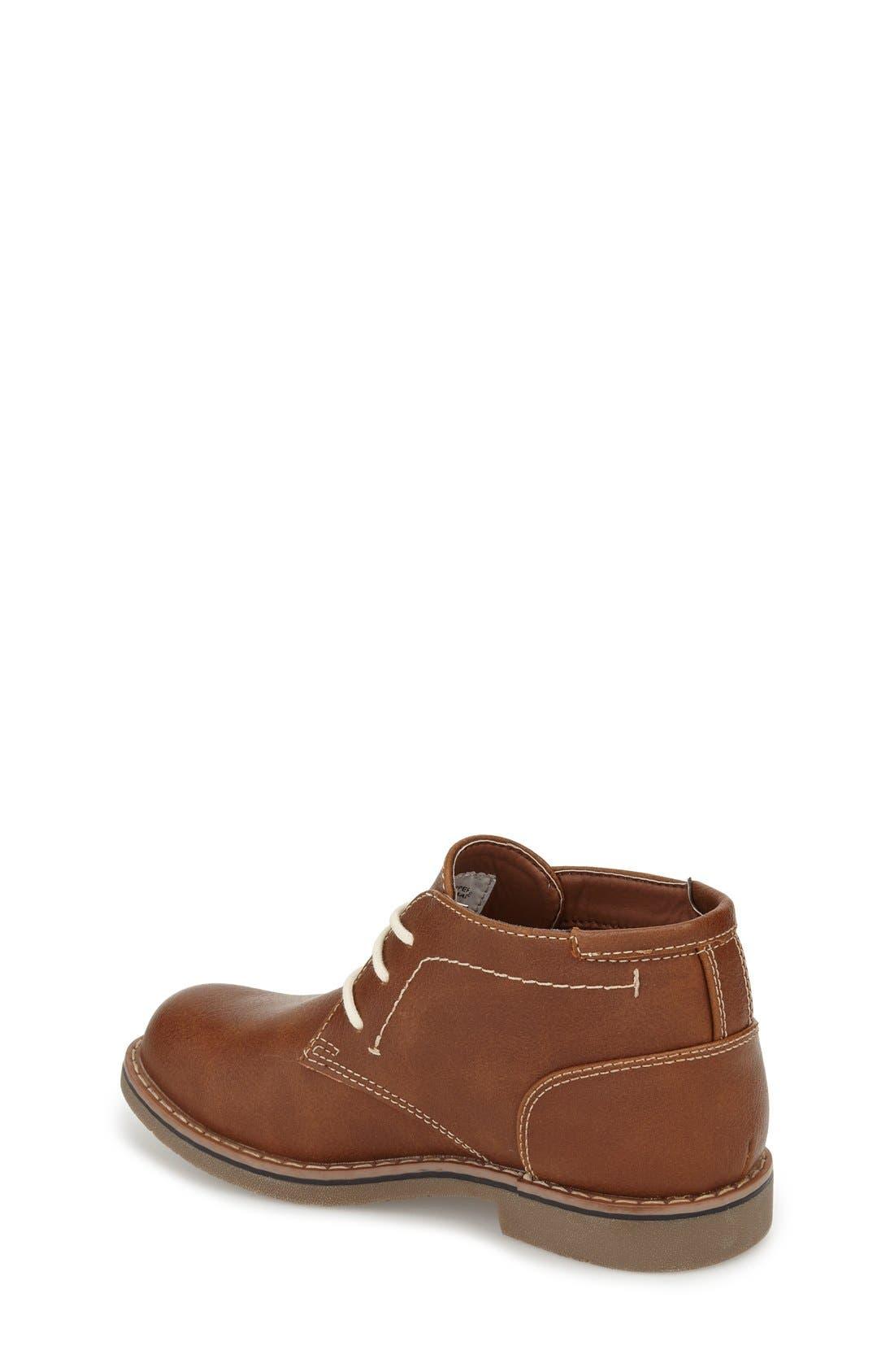 Classic Chukka Boot,                             Alternate thumbnail 2, color,                             Cognac Faux Leather