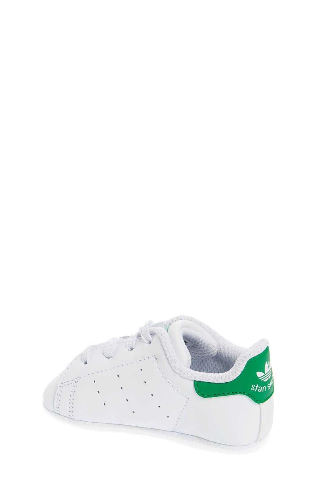 Alternate Image 2  - adidas Stan Smith Crib Sneaker (Baby)
