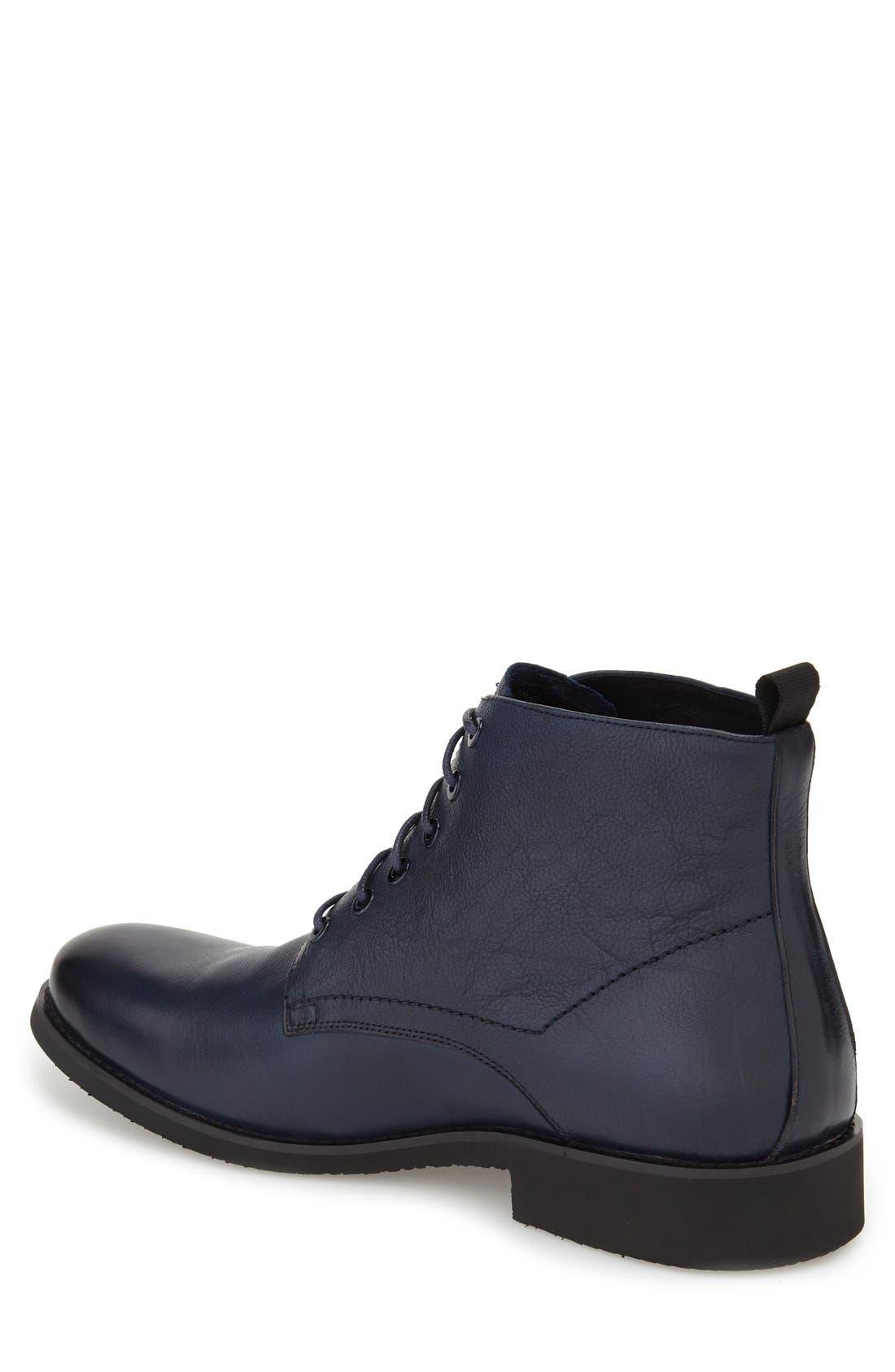 'Nereto' Plain Toe Boot,                             Alternate thumbnail 2, color,                             Navy