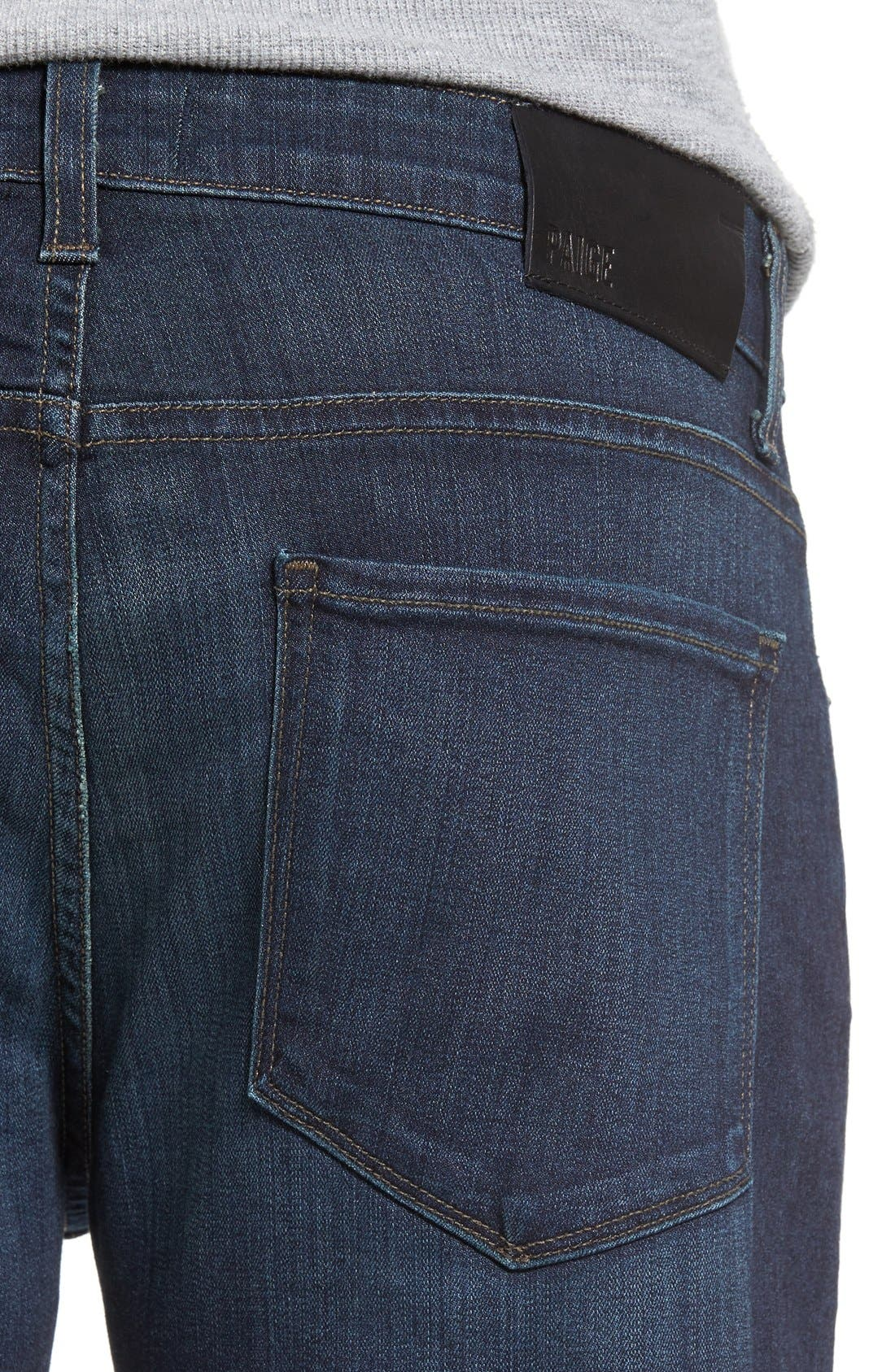 Transcend - Croft Skinny Fit Jeans,                             Alternate thumbnail 4, color,                             After Hours