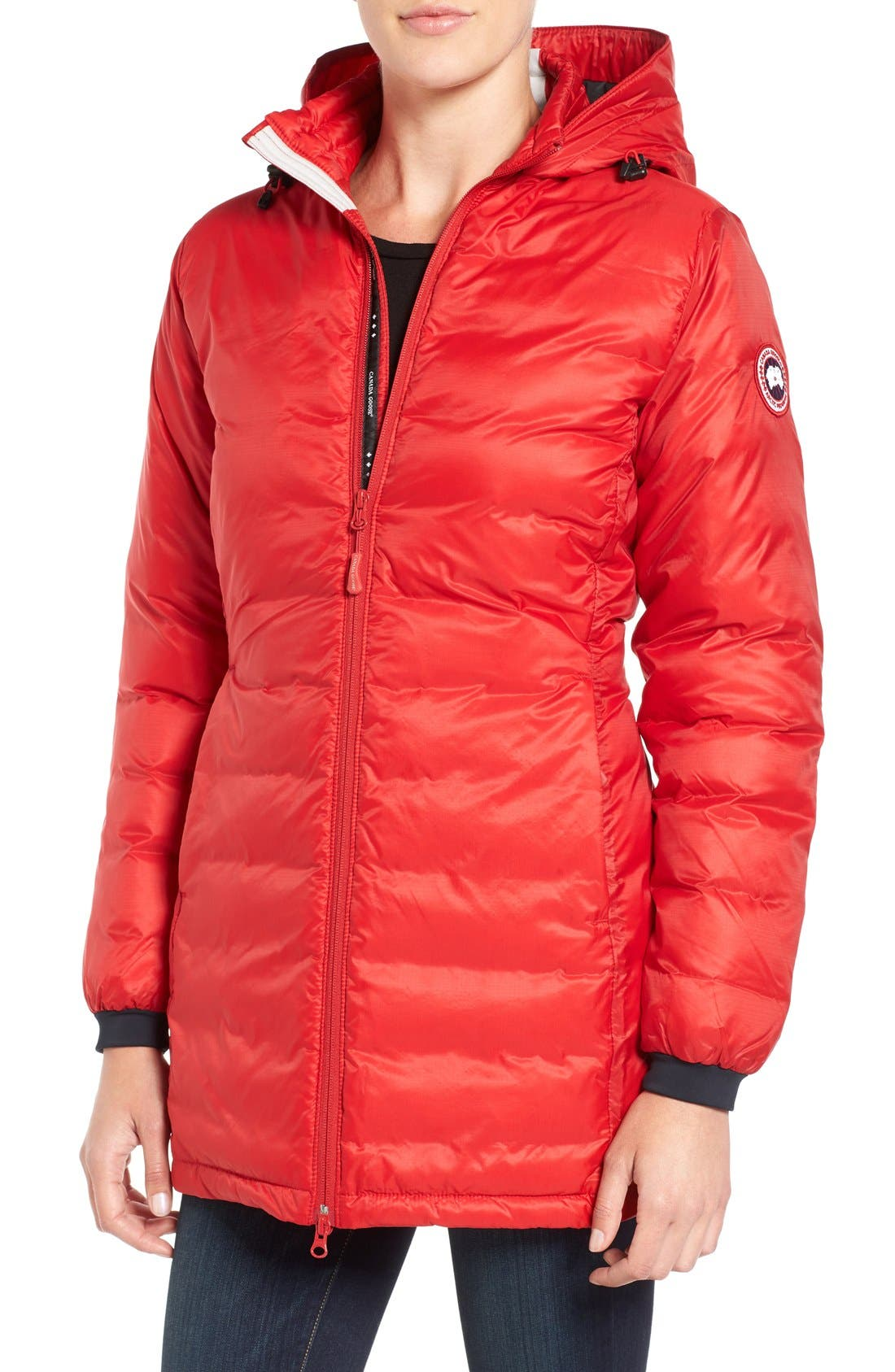 Alternate Image 1 Selected - Canada Goose 'Camp' Slim Fit Hooded Packable Down Jacket