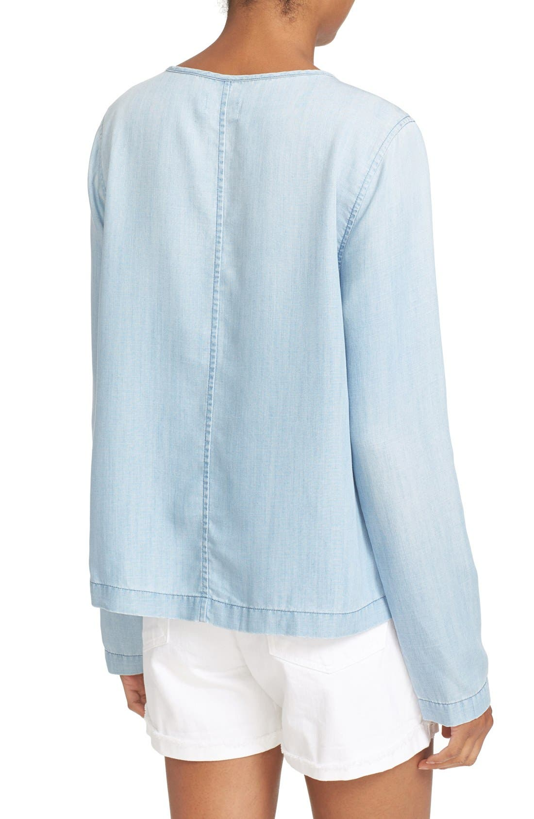 Alternate Image 2  - FRAME Chambray Blouse