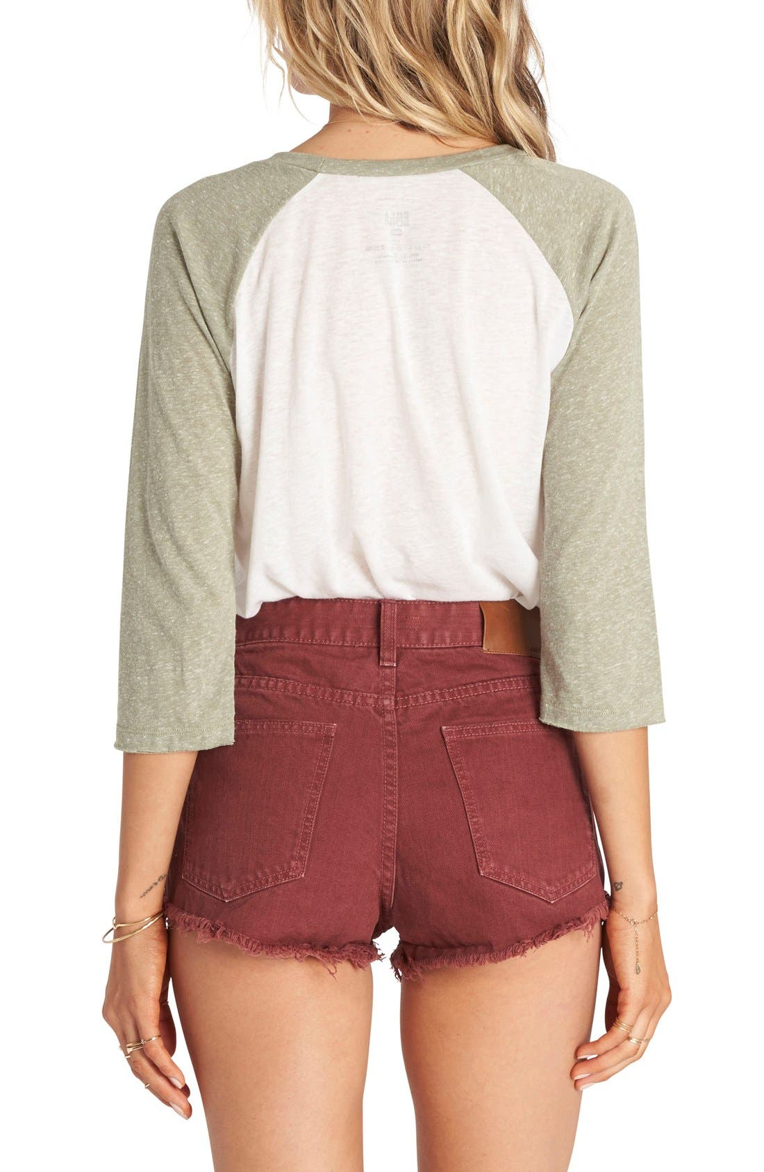 Alternate Image 2  - Billabong 'Highway' Distressed Denim Shorts (Salt Crystal White)