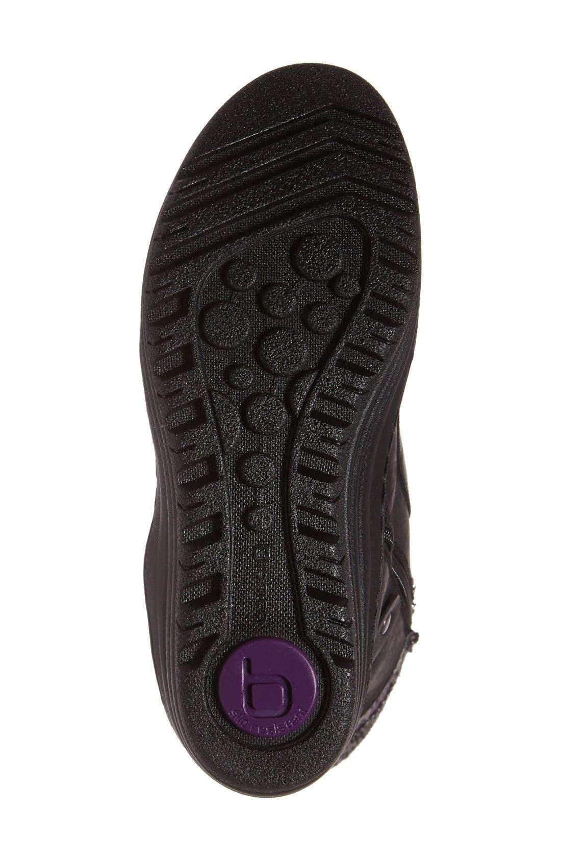 Garland Waterproof Wedge Boot,                             Alternate thumbnail 4, color,                             Black Waterproof Leather