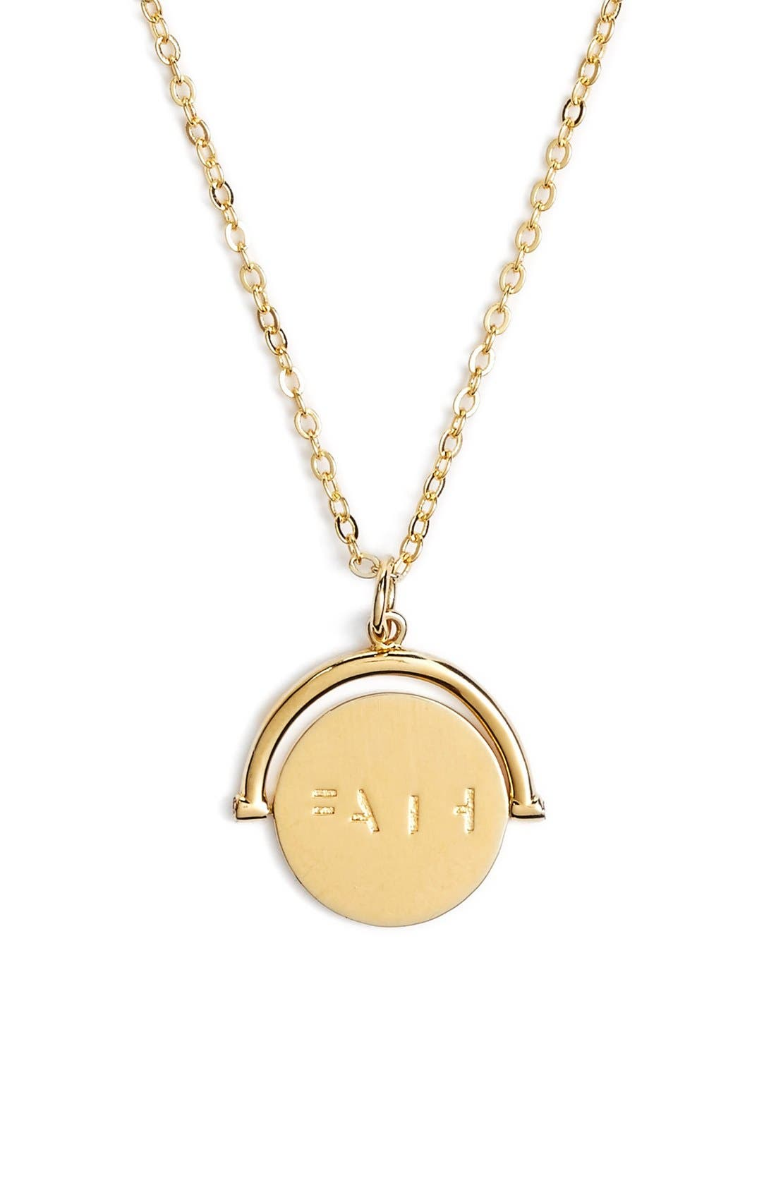LULU DK Faith Love Code Charm Necklace