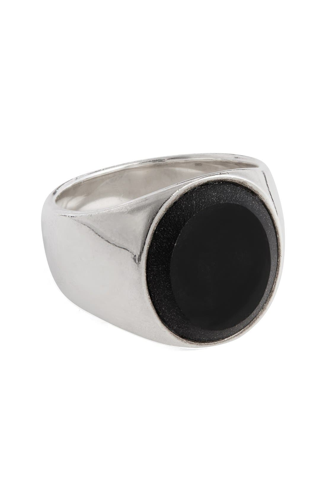 Tom Wood Black Onyx Oval Signet Ring