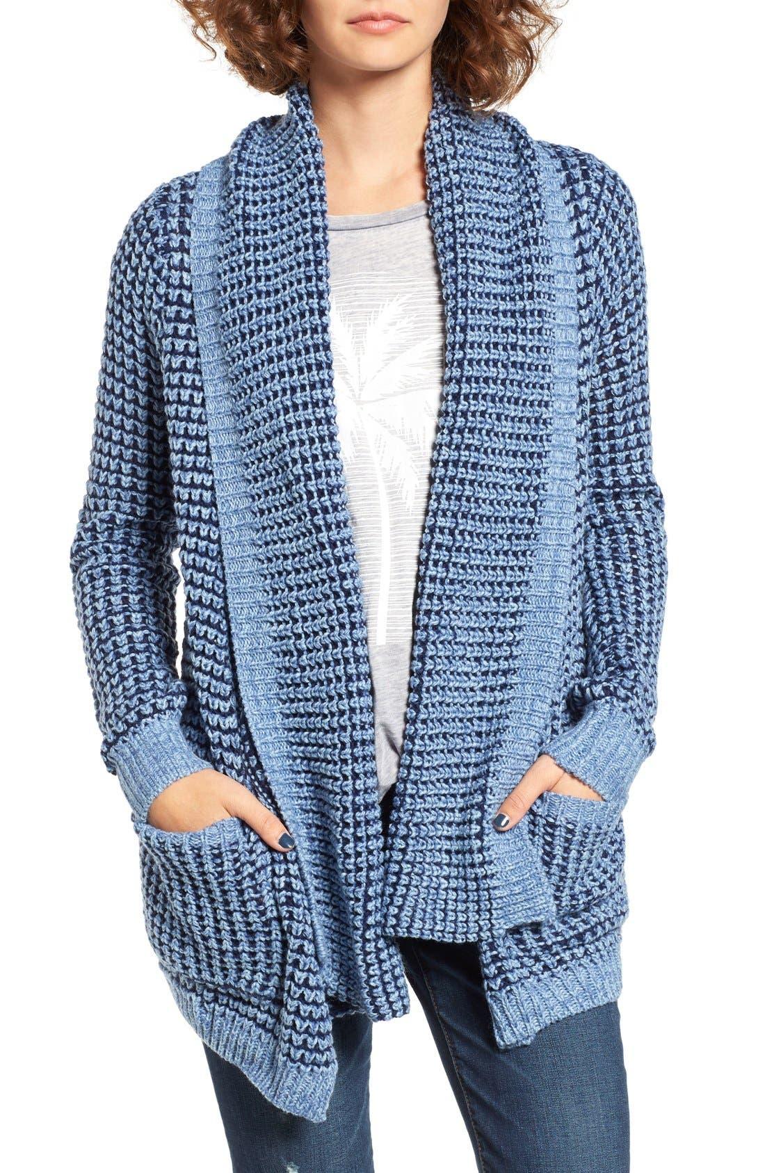 Shambala Knit Cardigan,                         Main,                         color, Blue