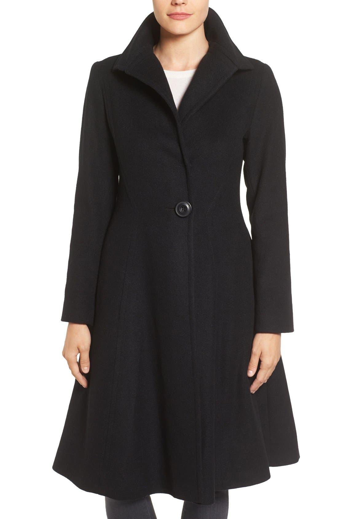 Main Image - Vera Wang Isabella Skirted Wool Blend Coat