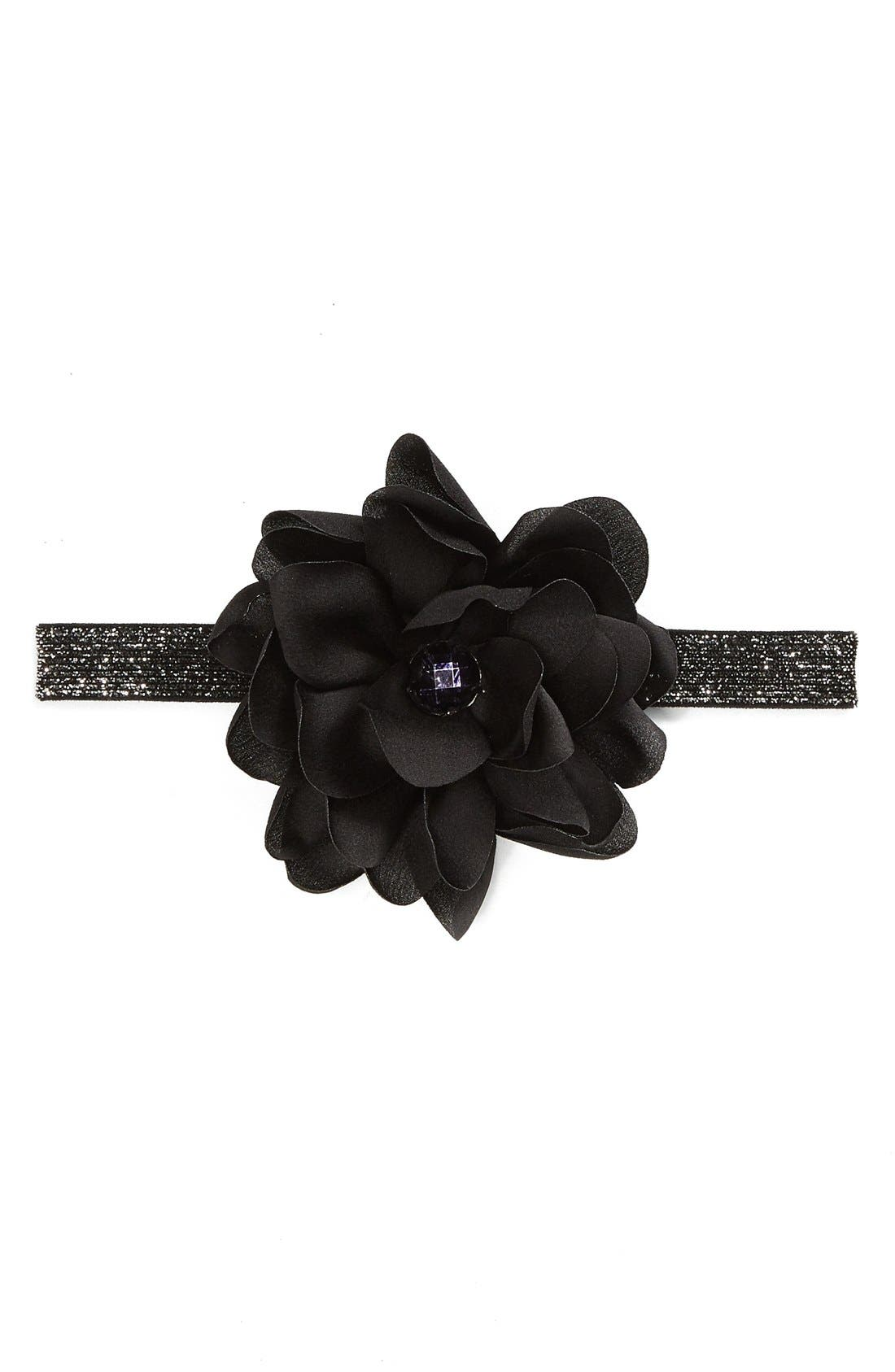 Main Image - PLH Bows & Laces Floral Headband (Baby Girls)