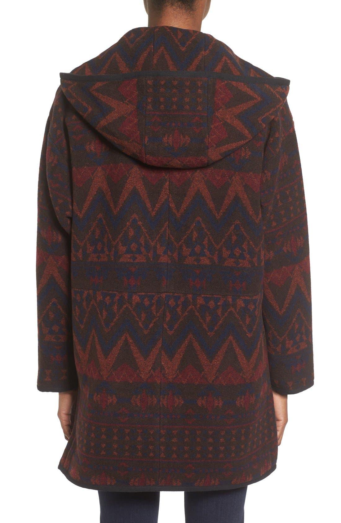 Alternate Image 2  - kensie Teddy Duffle Coat