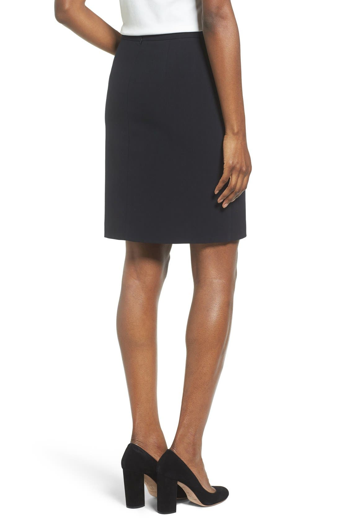 Two-Pocket Suit Skirt,                             Alternate thumbnail 4, color,                             Anne Klein Black