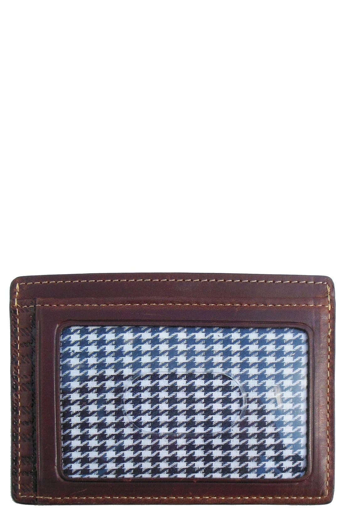 Bryant ID Card Case,                         Main,                         color, Antique Mahogany