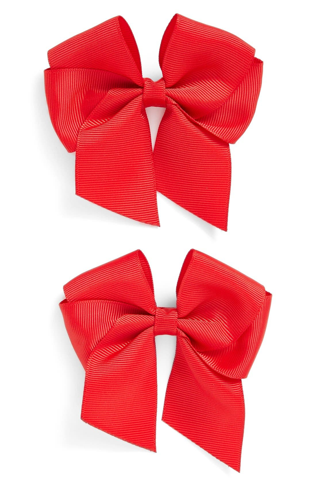 Main Image - PLH Bows & Laces Bow Clips (Set of 2) (Baby Girls)