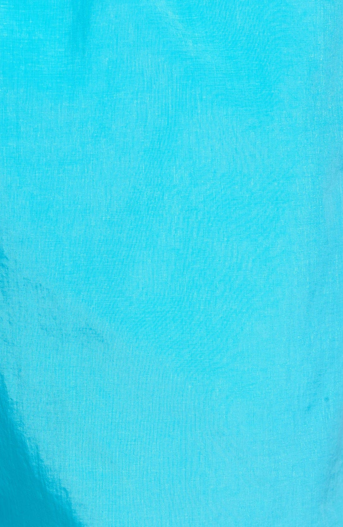 Cerulean Solid Swim Trunks,                             Alternate thumbnail 5, color,                             Cerulean