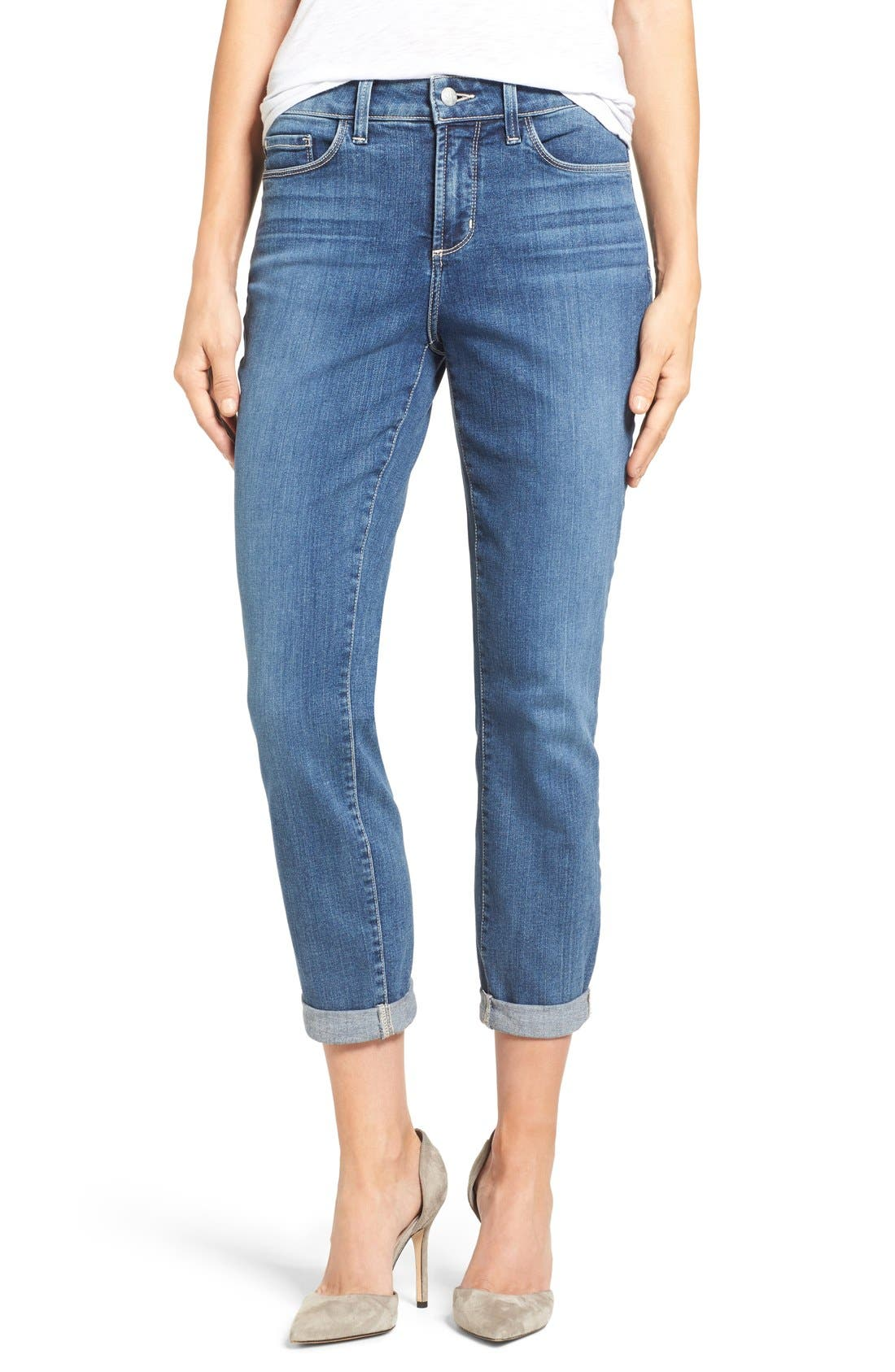 Alternate Image 1 Selected - NYDJ Alina Stretch Ankle Jeans (Heyburn) (Regular & Petite)