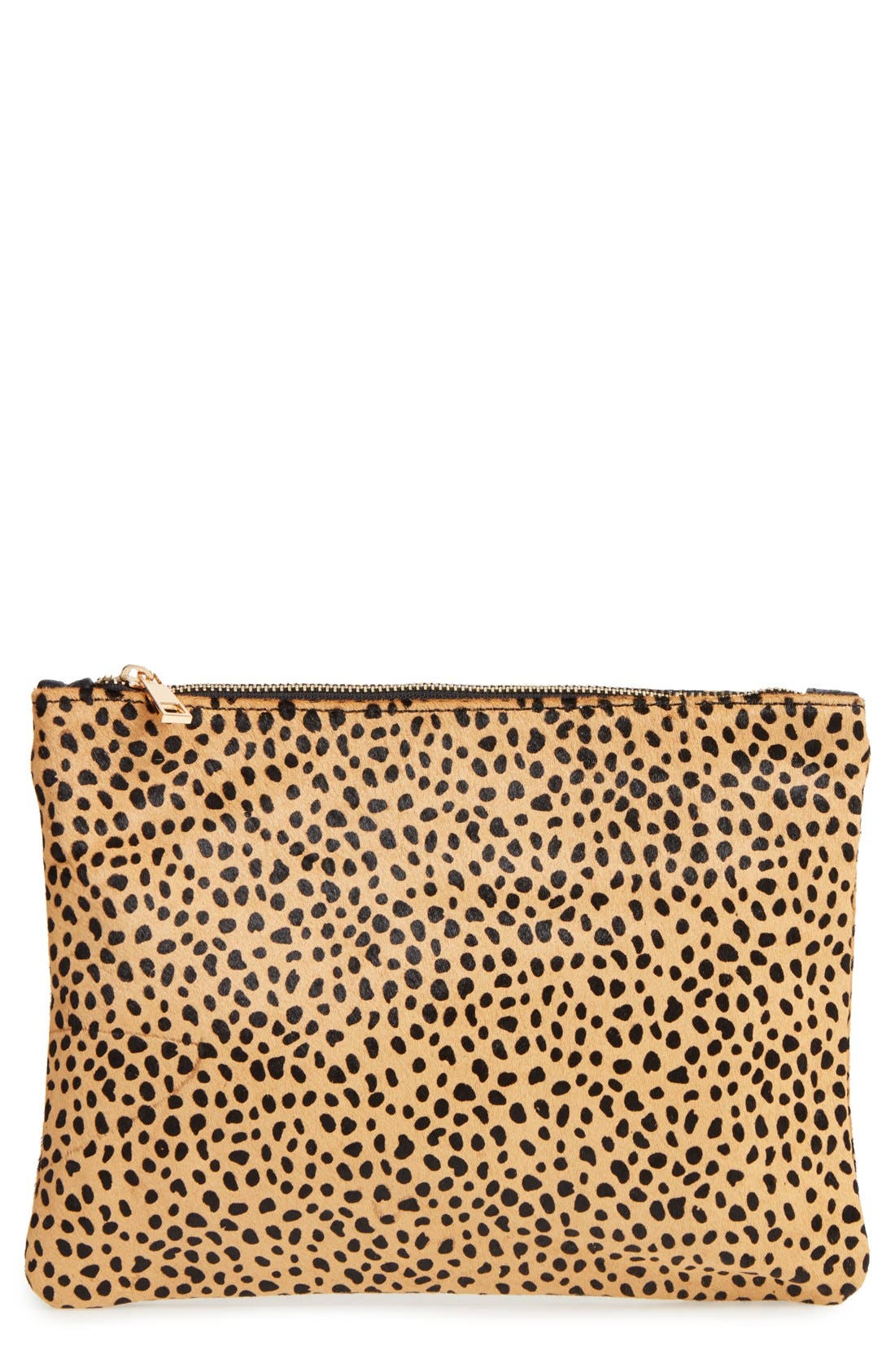 Main Image - Sole Society 'Dolce' Genuine Calf Hair Clutch