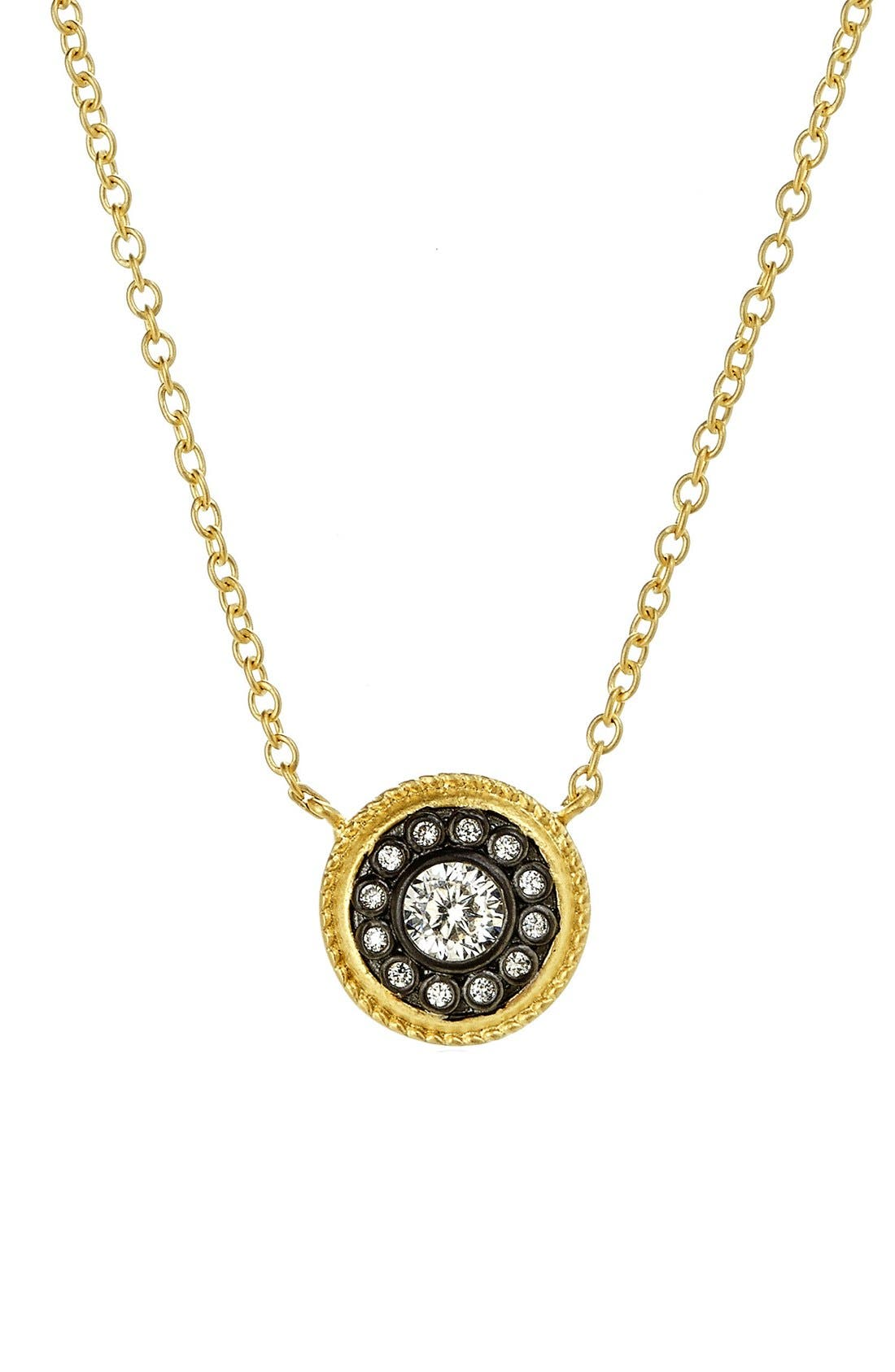 FREIDA ROTHMAN Hamptons Nautical Button Pendant Necklace