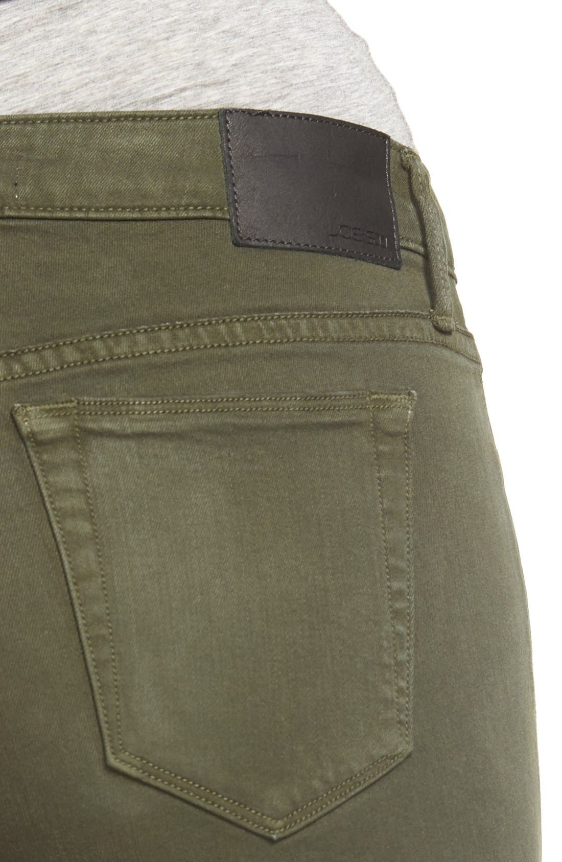 Icon Ankle Skinny Jeans,                             Alternate thumbnail 6, color,                             Military Green