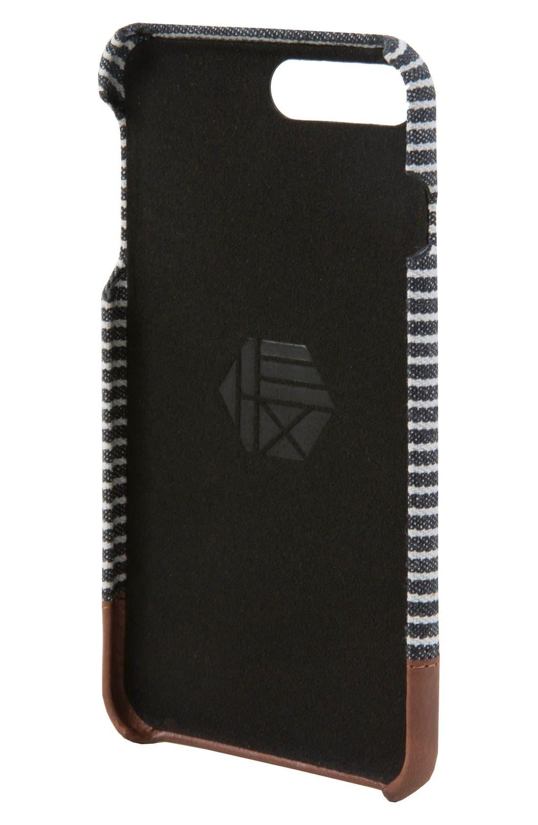 Focus iPhone 7/8 Plus Case,                             Alternate thumbnail 3, color,                             Black/ Grey Stripe Canvas