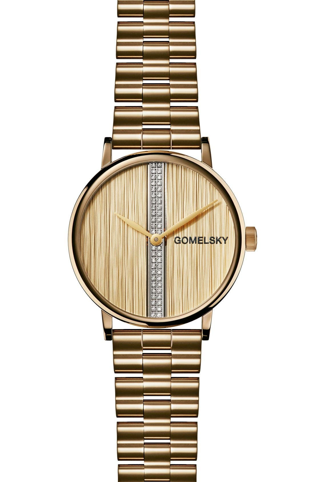 The Agnes Varis Diamond Bracelet Watch, 32mm,                             Main thumbnail 1, color,                             Gold/ Mother Of Pearl