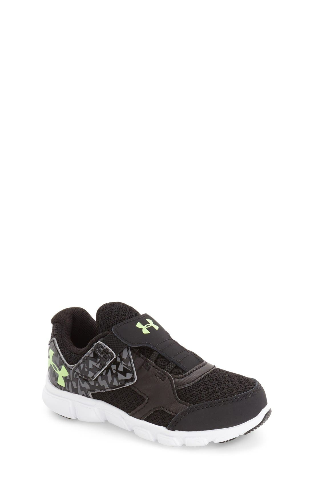 Engage II Athletic Shoe,                             Main thumbnail 1, color,                             Black/ White/ Lime Light