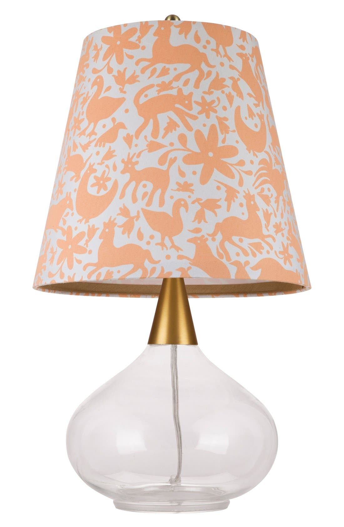Teardrop Glass Table Lamp,                         Main,                         color, White