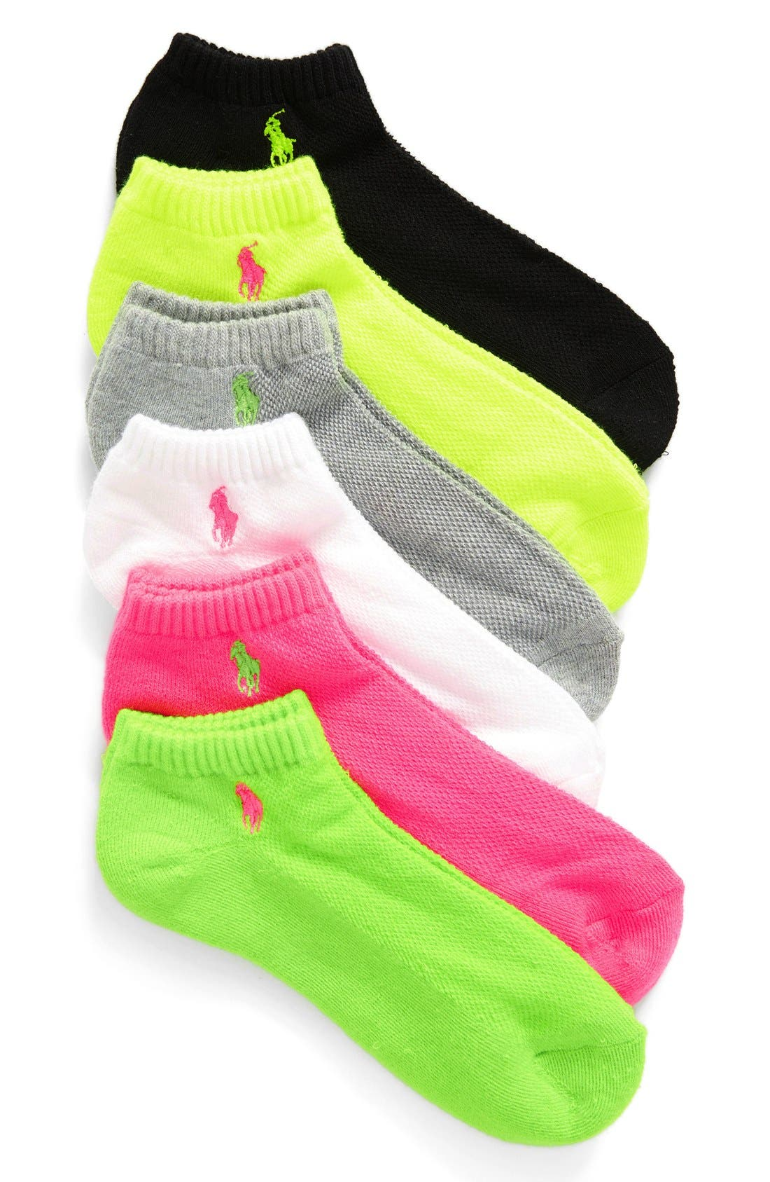 Ralph Lauren Sport 6-Pack Low-Cut Socks