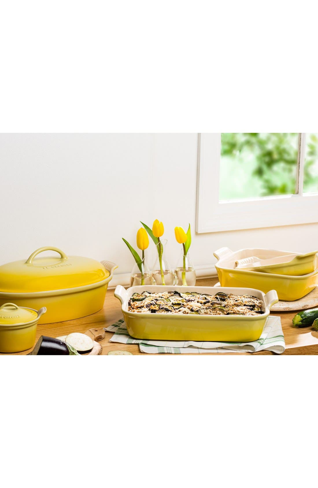 Alternate Image 2  - Le Creuset 4 Quart Covered Oval Stoneware Casserole