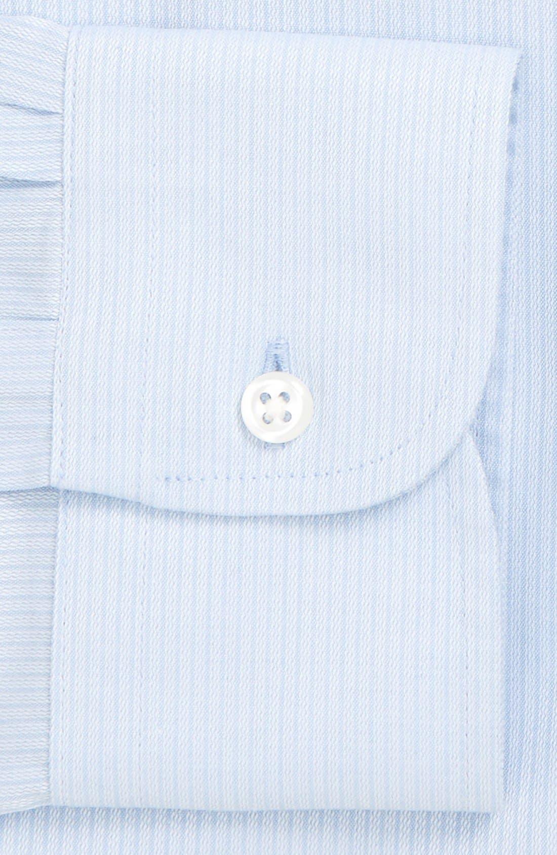 Alternate Image 4  - Nordstrom Men's Shop Smartcare™ Traditional Fit Stripe Dress Shirt
