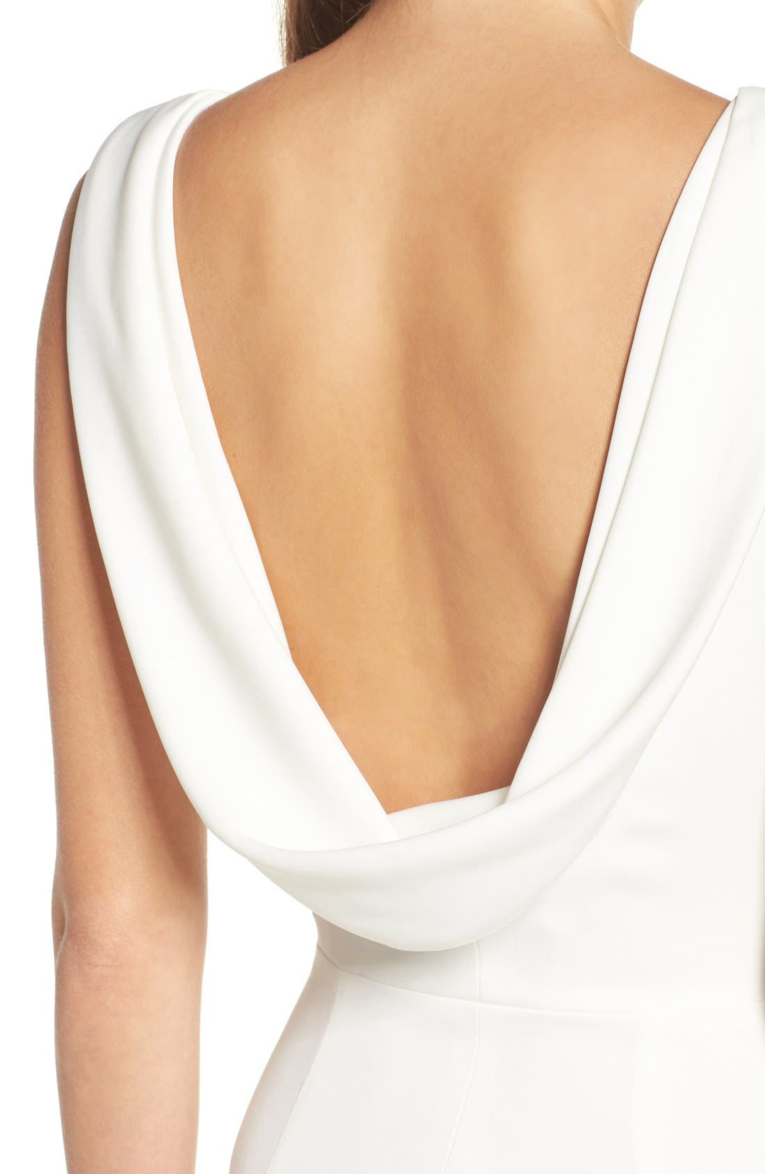 Alternate Image 8  - Katie May Drape Back Crepe Gown