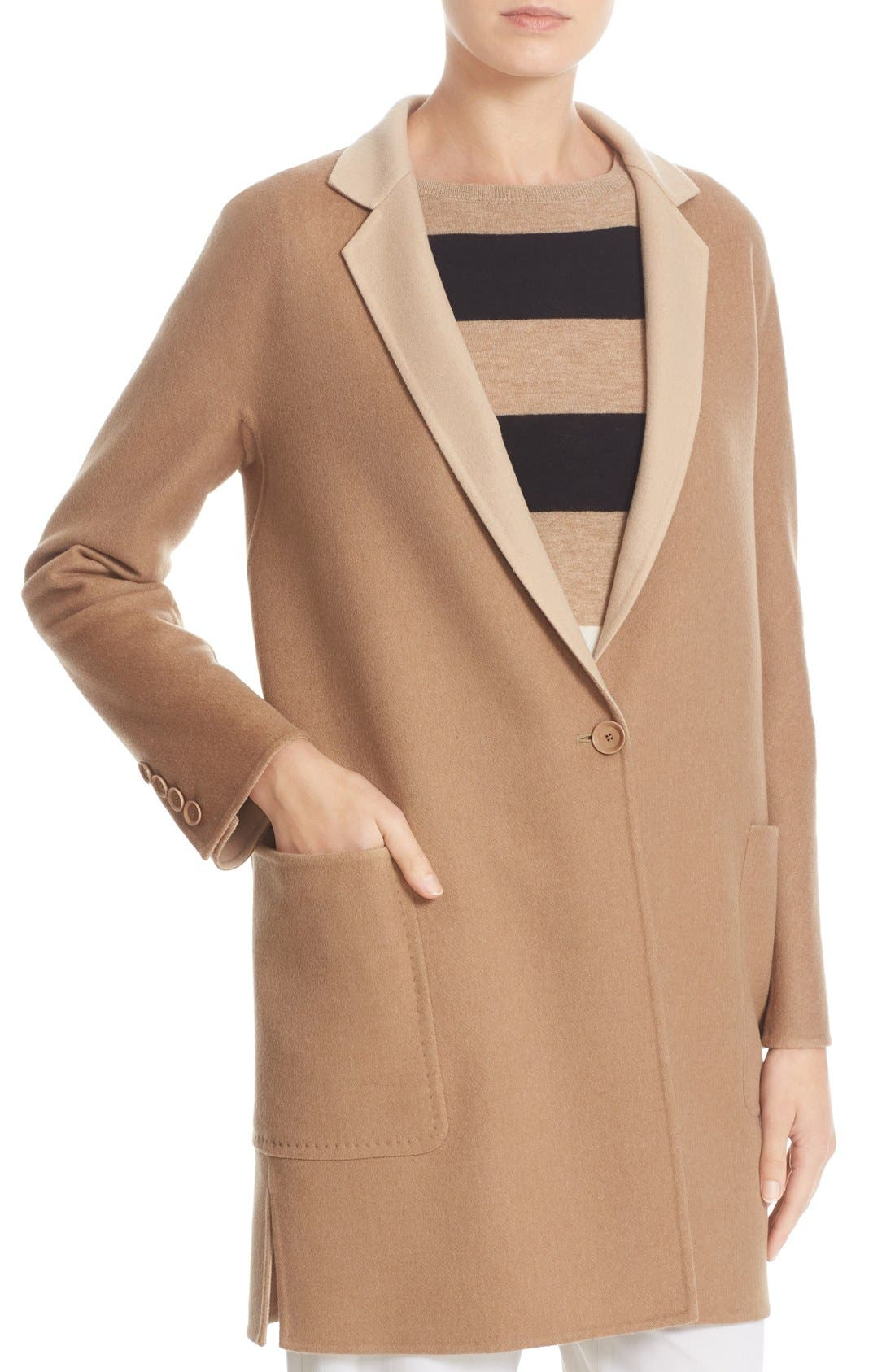 Alternate Image 6  - Max Mara Lillo Wool & Cashmere Bicolor Coat