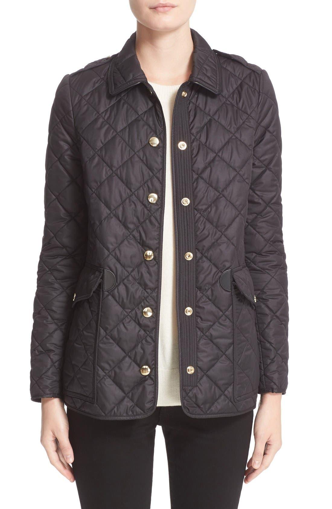 Westbridge Quilted Jacket,                         Main,                         color, Black