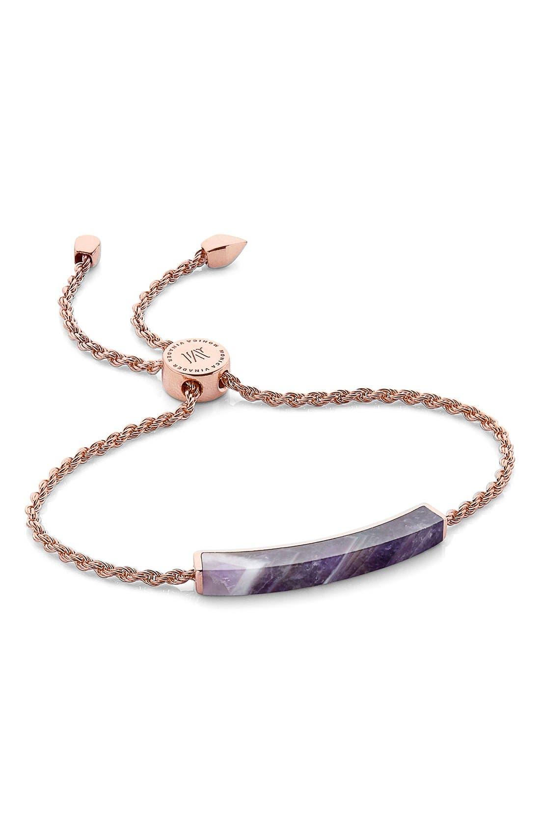 Monica Vinader Linear Semiprecious Stone Bracelet